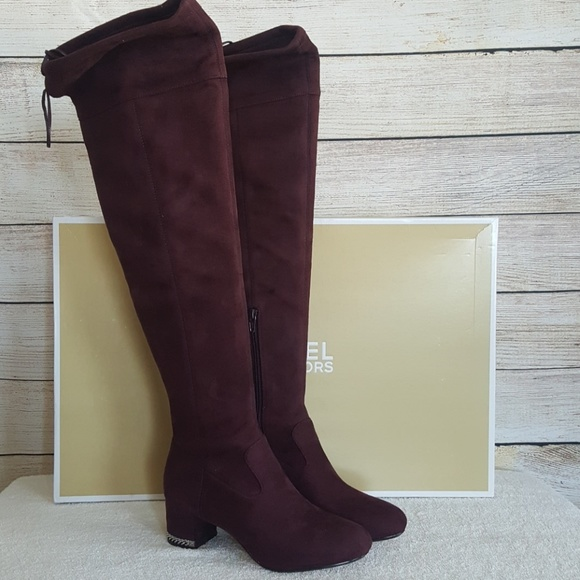 741260c5fa3 New Michael Kors Jamie Suede Over-The-Knee Boot. M 5c154d0b34a4efa2aa414a19